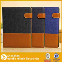 New Jean Pouch PU Leather Case With Stand for iPad 5 iPad Air