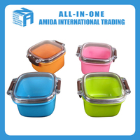 wholesale plastic lunch box and customized design gift lunch box