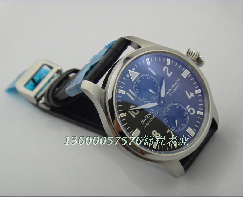 47 мм PARNIS ST2530 чайка движение big pilot автоматическая Хорошее качество смотреть 2014 новая мода Повседневная часы