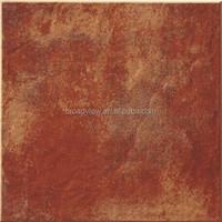 12x12 monococcion floor tile red color