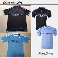 15-16 cheap New York soccer jersey whlesale blue football jersey thailand quality Upset team uniform football kits