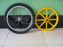 20 inch solid rubber wheel for garden cart / horse carrige/ show case