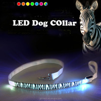 2015 New Style Wholesale Zebra-stripe Red LED Dog Leash
