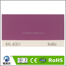 powder coating outdoor polyester resin glossy smooth surface RAL4001 red lilac