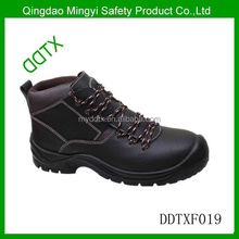 Oil Resistance Steel Toe and Steel Plate 100% Leather Boots