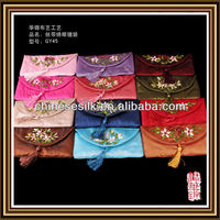 9x18cm ribbon flower embroider new year ang pao gift bags