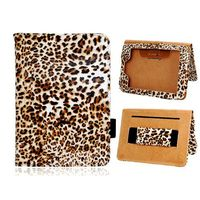 """Leopard Pattern with Belt and Stand Magnetic Flip Leather Case for Amazon Kindle Fire Paperwhite 6"""" Ebook"""