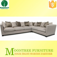 Moontree MSF-1169 victorian black and white sectional sofa
