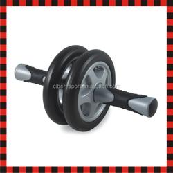 Dual equipment slider wheel ab roller abdominal exerciser