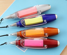 new arrival ball pen with light and sticky note