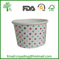16oz printed ice cream paper cup for ice cream container
