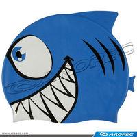 Shark Kids Child Silicone Swim Cap