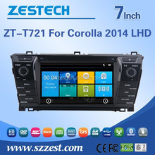 HD digital touch screen car dvd gps for TOYOTA Corolla 2014 with GPS, FM/AM radio, RDS/TMC, 3G, WIFI, SD CARD