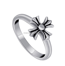 Fashion Cheap Vintage Titanium Cross Ring for Women