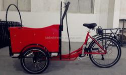 2015 hot sale three wheel 24 inch 7 speeds Cargo Bike/bakfiets