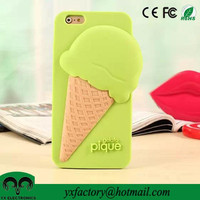 ice cream cute silicon case for iphone and samsung