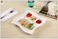 New design compartment german dinnerware with 4 compartment