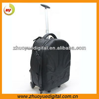The new hot with roller wheel airport takeoff rolling camera bag for dslr digtial camera