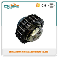 Sprocket flexible roller chain coupling