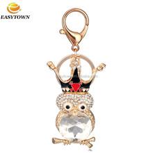 2015 souvenir metal keychain wholesale rhinestone keychain owl keychain