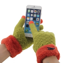 Christmas Bowknot Touch Screen Gloves 2 Finger Winter Touch Gloves for iPhone 6s etc