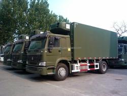 Sinotruk howo 4x2 refrigerated truck food truck fast food van