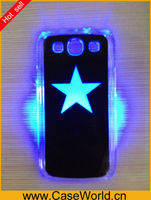 Colorful Plastic LED phone Case for iPhone 5C 5S S4 I9500