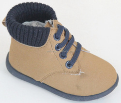 baby's casual boots with leather K7036