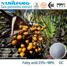 Kosher/halal/ISO 9001 garanzia di qualità puro estratto di saw palmetto acidi grassi 25-90%