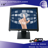 19 inch 5:4 Desktop Resistive 1280x1024 Touch Screen Monitor