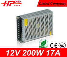 switching power supply 5v 12v 15v 24v factory price rohs power supply single output atx switching power supply 200w