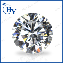 high refractive synthetic CZ gemstones white round 10mm cubic zirconia