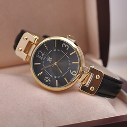 Aliexpress Best Selling Products Ladies Gold Plating Case Women Dress Watches Table