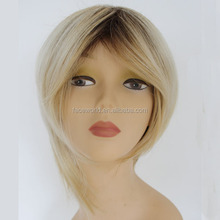Popular human hair wig best selling human hair grey lace front wig