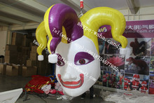 2015 Gaint halloween inflatable ghost mask , inflatable clown head