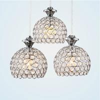 Beautiful Design Pendant Hanging LED Lights 3 Heads LED Crystal Pendant Light