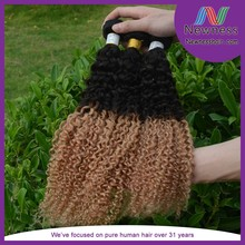 Hot!! Wholesale cheap Indian virgin remy hair weave blonde deep curly hair extension