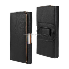 New Arrival Full Grain Holster Leather Pouch Case For iPhone 6 4.7 with Belt Clip