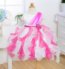 2015 latest fashion kids dress flower dress party frock for girls