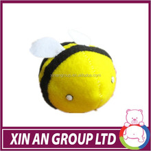 ball shape plush bee toy with star light,glow in the dark plush toy