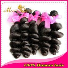 moresoo nuevos productos para las ventas directas de virgen de pelo indio envases pelo rizo suelto