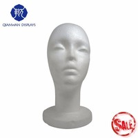 Foam head makeup mannequin head for sale in South Asia