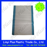 pp woven flour sack with yellow/red/blue/green stripe pp woven bag for flour