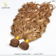 Trade Assurance Direct Factory No Tangle Remy Human Hair blonde curly remy weft hair