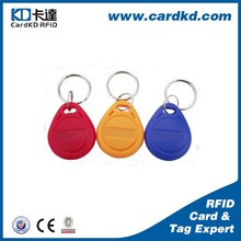 Eco-friendly cheap ABS meterial 125khz hotel key tags, key chain for hotel