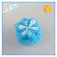 colorful body polish mesh bath sponges for promotion
