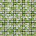 8mm d'épaisseur. vert, crackle mosaïque de verre