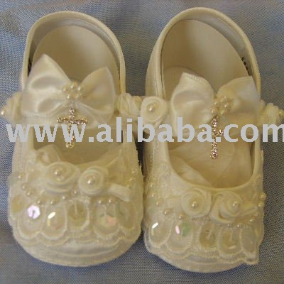 Diseñador del bebé del bautizo y traje de bautizo zapatos