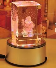 3D laser crystal cube crystal Christmas decoration