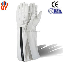 Wholesale White Cow Leather Welding Gloves,Long Sleeve Work Gloves